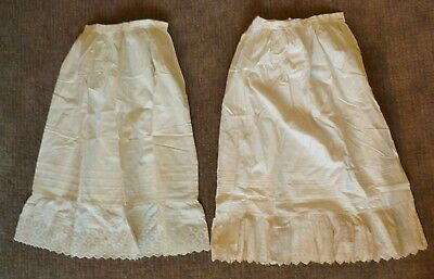 Pair of Antique Victorian Childs Petticoats, Beautiful Designs