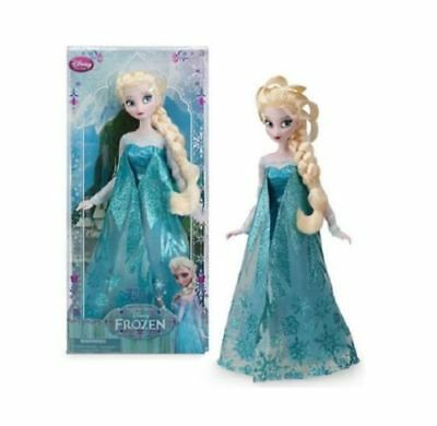 Disney Store Classic Collection Queen Elsa Doll 12 in Sparkle Dress Frozen NEW