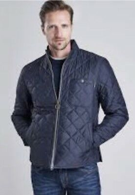 Mens Barbour International Quilted Axle Jacket Black  XL