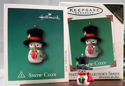 NEW 2003 Hallmark Keepsake Snow Cozy # 2 nd in Miniature Ornament Series MIB