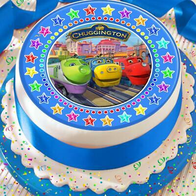 Chuggington Blue Star Border Precut Edible Birthday Cake Topper