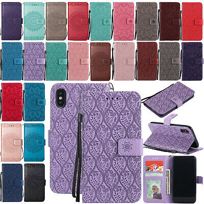 For iPhone 8 Plus 7 8 Luxury Magnetic Flip Leather Strap Wallet Case Stand Cover