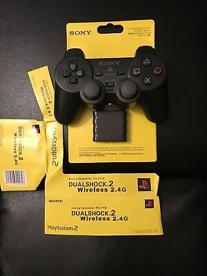 Official Sony PlayStation 2 (PS2) DualShock Wireless Controller - Black