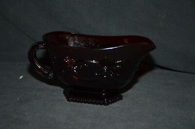 Avon 1876 Cape Cod Collection Red Ruby Glass Gravy Bowl