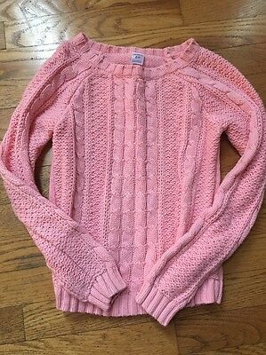 Carter's Girls 6X Pink Cable Knit Sweater