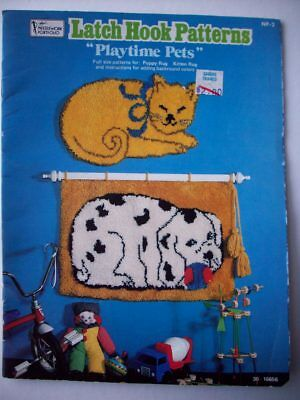 Latch hook patterns cat and dog Playtime pets