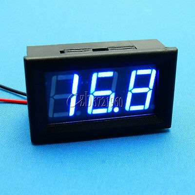NEW Blue LED Panel Meter Mini Digital Voltmeter DC 3.2V To 30V