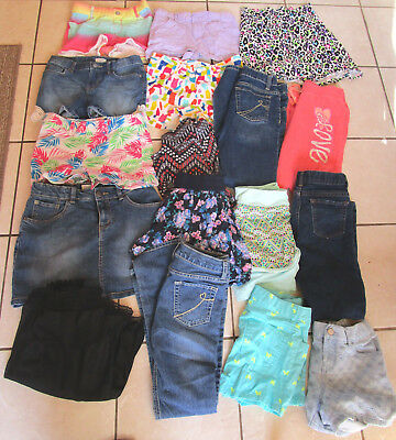 Lot of 50 Mixed Brand Name Girls Clothes Clothing Size 10 12