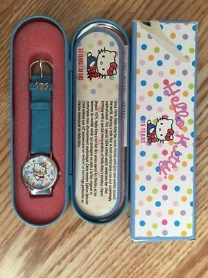 Rare Sanrio Hello Kitty 30th Anniversary Watch Collectible Limited Edition Blue