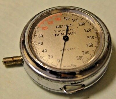 Vintage Collectible German Military BEHAJ Tanometer MINIMUS Marked Ges. gesch.