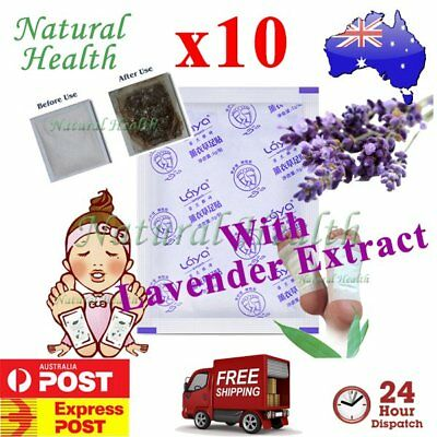 10 Detox Foot Pad Patch KINOKI Herbal Weight loss toxin remove Lavender Extract