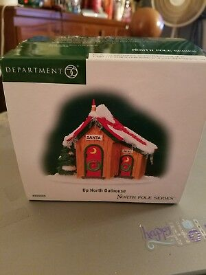 """Dept. 56 North Pole Accessory  """"UP NORTH OUTHOUSE"""" ~ NEW ~ CUTE!!!"""