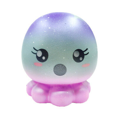 USStock Jumbo Squishy Octopus Slow Rising Squeeze Kid Toy Gift Phone Charm Strap
