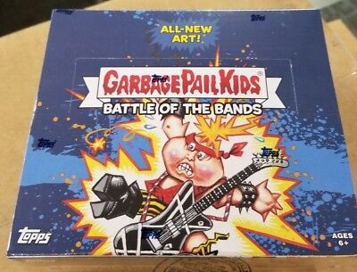 Battle of the Bands TOPPS GARBAGE PAIL KIDS FACTORY SEALED HOBBY BOX 2017