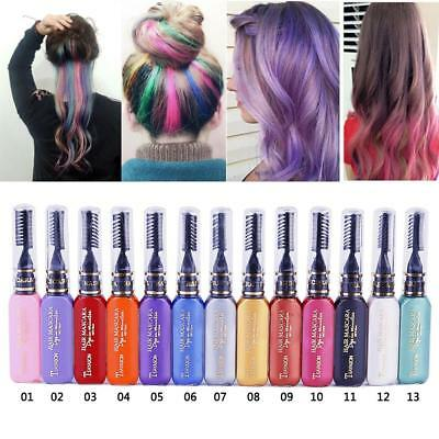 Temporary Color Pigments Hair Chalk Non-toxic Hair Dye Mascara Salon DIY DQCA