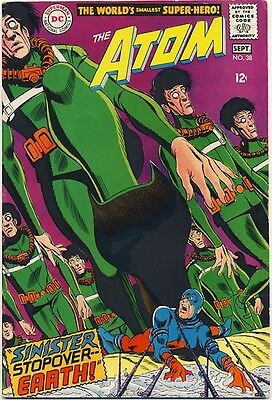 """ATOM #38 1968 FN/VF """"Sinister Stopover Earth"""" LAST SOLO ISSUE"""