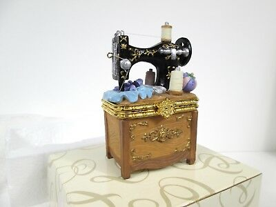"Vintage San Francisco Music Box Co sewing machine plays ""My Favorite Things"""