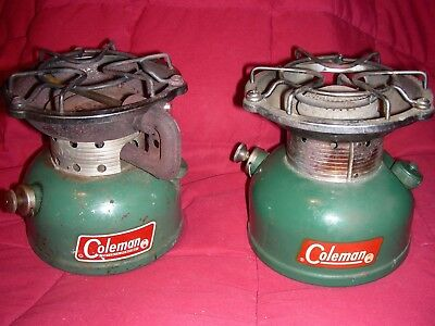 TWO COLEMAN CAMPING Cook Stoves Model 501 502 Working Parts And Repair