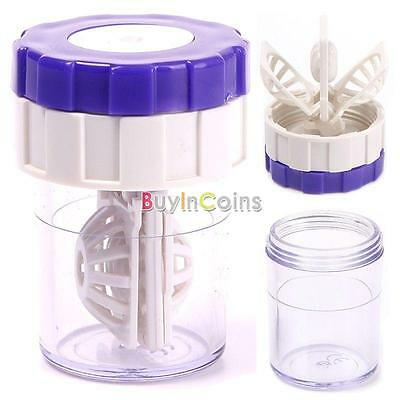 Hot Latest New Manually Contact Lens Cleaner Washer Cleaning Lenses Case DQCA