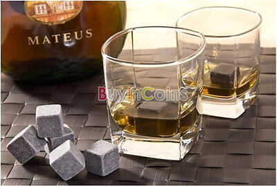1-8Ps Stainless Ice Cubes Glacier Drink Freezer Whiskey Rock Stone DQCA