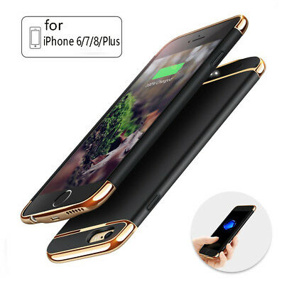 External Battery Rechargeable Backup Power Charger Case Cover For iPhone 8 7 6