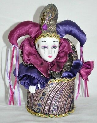 The San Francisco Music Box Company Mardi Gras Jester Clown Somewhere In Time