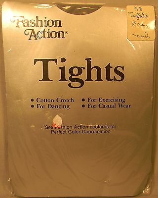 Vintage Fashion Action Tights Dance Exercise Fashion Sz Hosiery Med. Gray