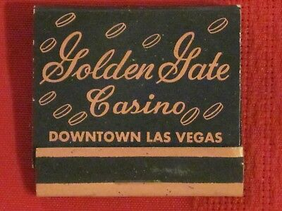 **** Golden Gate Casino Matchbook - Las Vegas, Nevada  Full & un-struck!