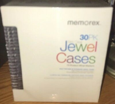 Memorex Clear Jewel Case, Slim, 30 Pack LOWER PRICE, GREAT DEAL!!!   No Reserve!