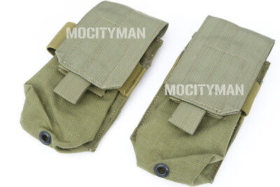 Eagle Industries Heavy SCAR Single 1x2 Mag Pouch - Khaki - Lot of 2 - NEW - USA