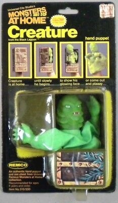 MONSTER AT HOME, Rare 1981 Remco CREATURE Finger Puppet, MOC