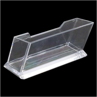 Azm 10 new clear desktop business card holder display plastic clear desktop business card holder display stand acrylic plastic desk shelf dqca colourmoves