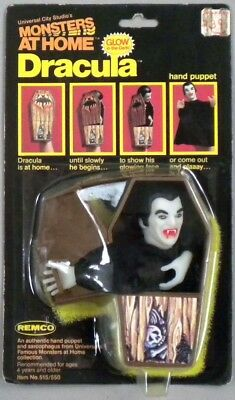 MONSTER AT HOME, Rare 1981 Remco DRACULA Puppet, MOC