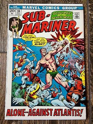 The Sub-Mariner #56 (1972)  Alone Against Atlantis!  Nice Copy!  PRICED TO SELL!
