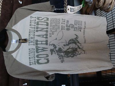 'Cowhands' T-shirt Size M