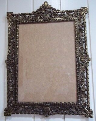 Pair of Italian Cast Brass Picture Frames , circa 1950's