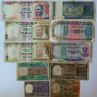 10 Banknotes from India