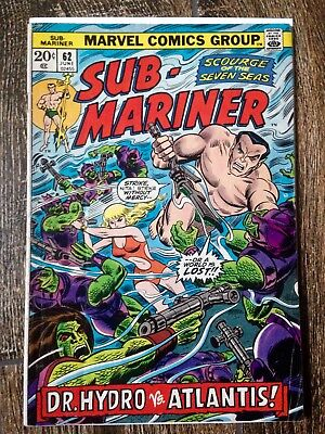 The Sub-Mariner #62 (1973)  Dr Hydro vs Atlantis!  Nice Copy!  PRICED TO SELL!