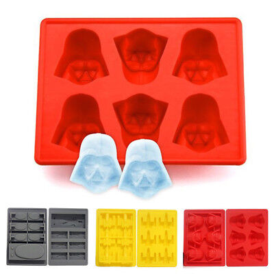 Star Wars Silicone Ice Tray Mold Ice Cube Tray Chocolate Pudding DIY Han Solo UK