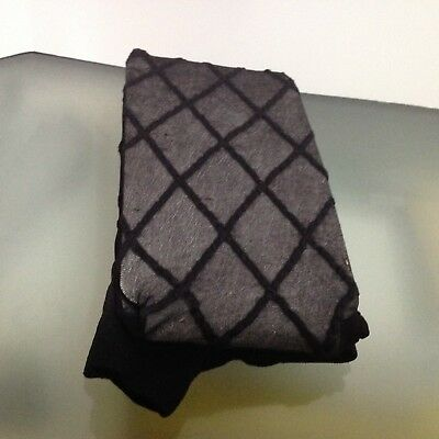 New Black Thigh High Sheer Lace Nylons, Large