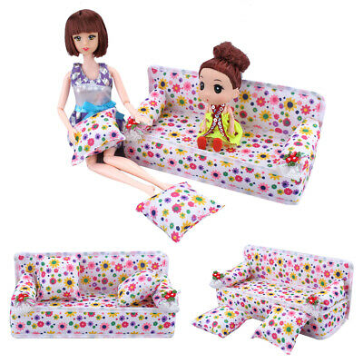 Sofa Mini Floral Toy Gift Plush Stuffed Furniture Chair With 2 Pillows UK