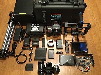 Red Epic Dragon X 6K Camera W/extras, Huge Bundle,tripod, Only 2 Hrs Of Use