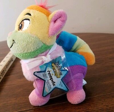 Neopets seris 4 rainbow wocky 4 inch doll plush 2008 fox toys kids children play