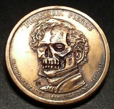 Zombie Pierce Hobo Nickel Skull Carving 100% Ugly AF