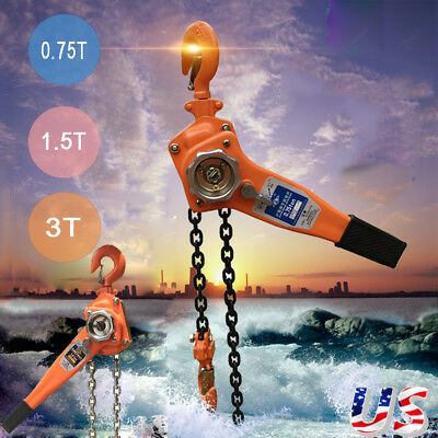 0.75/1.5/3 T Chain Puller Block Fall Chain Lift Hoist Hand Tools Chain With Hook