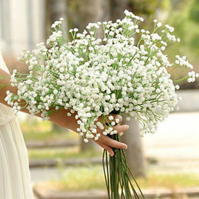 1/20pcs Artificial Fake Silk Gypsophila Baby's Breath Flower Plant Home Wedding