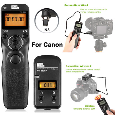 Pixel TW-283 N3 LCD Wireless Shutter Release Timer Remote Control for Canon 7D