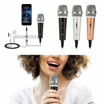 Mini 3.5mm Microphone Mic Mobile Phone Laptop MSN Karaoke For Android IOS EN