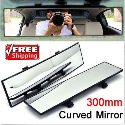 300mm Car Wide-angle Rearview Auto Curve Interior Rear View Mirror J