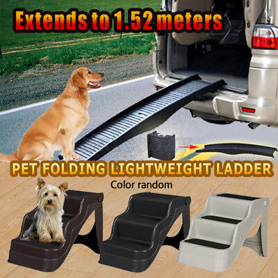 Portable Foldable Doggy Cat Pet Dog Stairs Ramp Folding Ladder Stairs